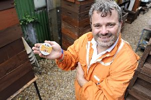Former Army Captain John Geden who has developed a balm from bees wax for amputees. He himself is due to have one of his legs amputated.''Picture: Ian Hargreaves  (010719-5)