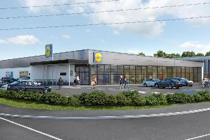 An illustration of Lidl's planned new store