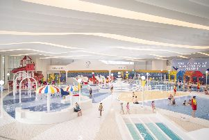 The exhilarating view of the new 40m pool at Butlin's in Bognor Regis