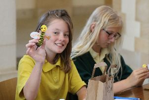 Pupils make concertina bees in craft workshops ahead of the Leavers Service at Portsmouth Cathedral