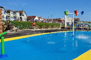 The new Lee-on-the-Solent splash park