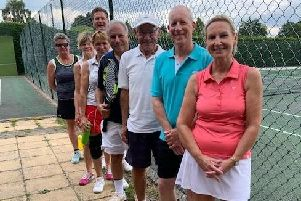 Players from a recent fixture between Warsash and Wellow in Portsmouth & District League mixed masters division one. From left: Laura Dodington, Sheridan Easton, Sheena Quinn, Karen Kirwan, Michael Isaacs, Trevor Spence, Mike Bevan and Elaine Pickering