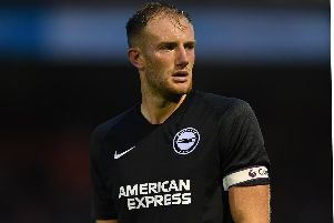 Matt Clarke captained a young Brighton side against Crawley on Friday. Picture: Mike Hewitt/Getty Images)