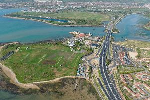 An aerial view of Tipner. Picture: Commission Air Ltd