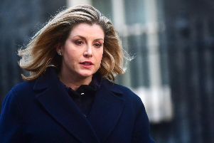 Defence secretary Penny Mordaunt in Downing Street, London. Picture: Victoria Jones/PA Wire