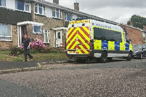 Police at the scene of an incident in Oak Road in Bishop's Waltham on July 22. Picture: Tom Cotterill