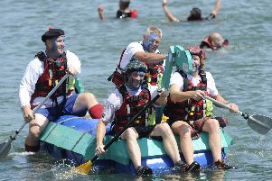 The 2019 Fareham Raft Race. Picture: Ian Hargreaves  (200719-9)