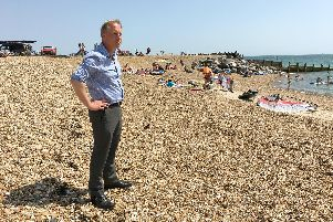 Havant Borough Council leader Michael Wilson, who has called for Southern Water to improve its infrastructure as a 'matter of urgency'