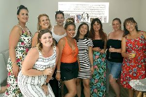 Cheryl Gibbs, third from right, with her girlfriends at a birthday spa day.
