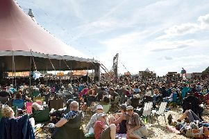 The crowd outside the main stage at Wickham Festival, 2018. Picture Credit: Keith Woodland