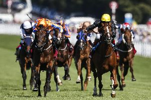 Stradivarius, right, beats Torcedor to victory in the Goodwood Cup last summer. Picture: Alan Crowhurst/Getty Images