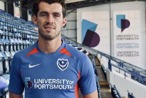 John Marquis signs for Pompey. Picture: Portsmouth FC