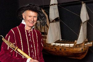 Simon Skuse, volunteer at the Mary Rose Museum, who survived a major brain haemorrhage. Picture: National Lottery Good Causes