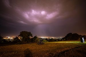 Portsdown Hill in Portsmouth when a thunderstorm hit overnight between July 23-24. Picture: Andrew Price