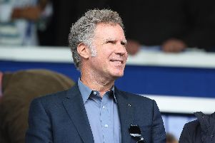 Will Farrell at Fratton Park on Saturday for Pompey's 2-0 victory over Tranmere. Picture: Joe Pepler