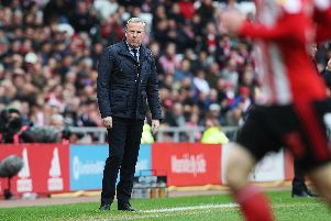 Pompey boss Kenny Jackett at Sunderland last season. Picture: Joe Pepler