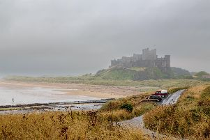 Steve Canavan had a miserable time on rainy Bamburgh Beach, Northumberland.