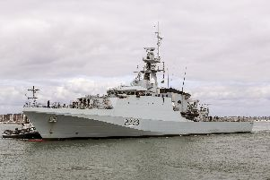 Pictured:  HMS Medway first entry to Portsmouth. Photo: Royal Navy