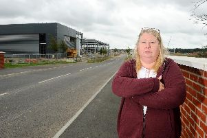 Janice Turner, of Ayrshire Road, is one of an increasing number of Berewood residents angered at the late-night noise of the commercial Proxima Park development. Picture: Sarah Standing (160819-3829)
