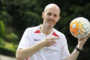 Nick Cole from Waterlooville, who has Parkinson's Disease, is taking part in a charity football match to raise money for the Parkinson's Trust.'Picture: Ian Hargreaves (110819-3)