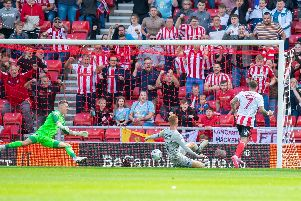 Pompey old boy Chris Maguire scores for Sunderland today. Picture: Malcolm Mackenzie