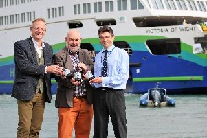 Chris Mousley from Island Brewery, John Nicolson from CAMRA IOW and Wightlinks Simon Lewis