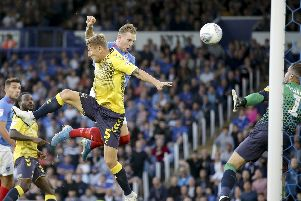 Ronan Curtis netted his first Pompey goal since March during an improved personal display against Coventry. Picture: Robin Jones
