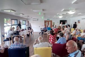 Millennium Court residents meet with with representatives from the Guinness Partnership.