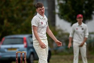 Fareham & Crofton bowler Ben Anscombe dejected as his side were relegated from the Southern . Picture: Vernon Nash (310819-019)