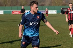 Adam Cripps netted for AFC Portchester. Picture: Vernon Nash (230219-104)