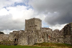 Portchester Castle - one of the iconic venues covered in the video.''Picture: Mick Walker
