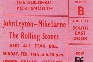 Happy days in the mid-1960s when all the stars appeared at the Guildhall and for just 33p in modern money. Ticket: Pete Cross collection.