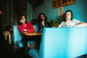 Little Barrie in 2017. From left: Barrie Cadogan, Virgil Howe, Lewis Wharton. Picture by Daniel Quesada
