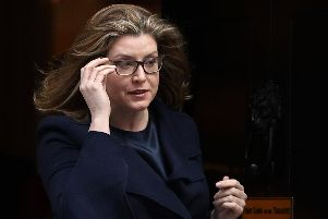 Penny Mordaunt leaves Downing Street on March 25, 2019. Picture: Dan Kitwood/Getty Images