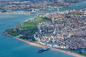 An aerial view of Southsea. Picture: Shaun Roster