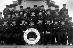 Pictured in April 1950 are sea cadets from Horsham. Top left is Mick Puttick who served for 45 years.