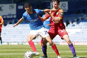 Leon Maloney claimed his first Pompey assist in today's 3-1 victory over Norwich under-21s. Picture: Joe Pepler