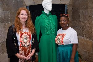 Alice Hume with Yemisi Olaiya at the launch of Semande's spring/summer 2020 collection at the Round Tower in Southsea Picture: Pix Pac studios
