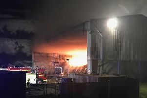 Fire at the Veolia depot in Downend Road, Fareham'Picture: Portchester Fire Station