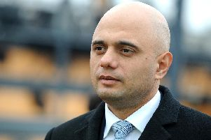 Sajid Javid pictured during a visit to Portsmouth.