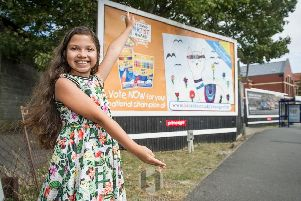 Alisha Hussain, 9, has won the Bic Kids Young Artist 2019 competition and is to see her picture of a llama emblazoned across billboards nationwide.  ''Picture: Habibur Rahman