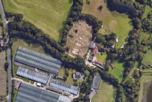 The proposed gypsy site off Titchfield Road.
