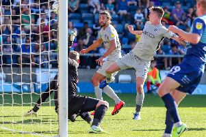 Pompey go close at Wycombe, but couldn't find the breakthrough / Picture: Nigel Keene