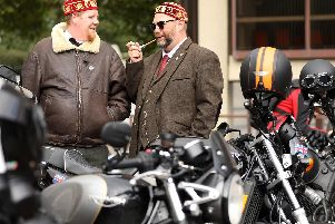 Bikers dressed for the occasion as part of the Distinguished Gentlemen's Ride.'Picture: Chris Moorhouse