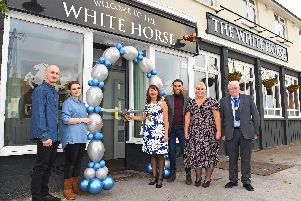 The White Horse public house on Nobes Avenue in Bridgemary, Gosport, has re-opened after a refurbishment costing more than 255,000.