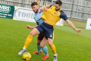George Barker should be back to boost Gosport Borough. Picture: Duncan Shepherd