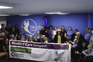 Bluebird Care Gosport staff and customers celebrated an outstanding first year