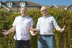 Philip Rutt, left, with Kevin Gallagher, two of the organisers behind the Gosport Open Doors homeless support project.