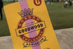 Goodwood ticket. Picture: Millie Salkeld