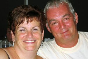 Rachel Griffin and her husband Andy Griffin.